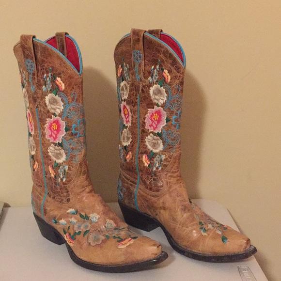 7264630b4da Macie Bean Rose Garden Cowgirl Boots - Snip Toe